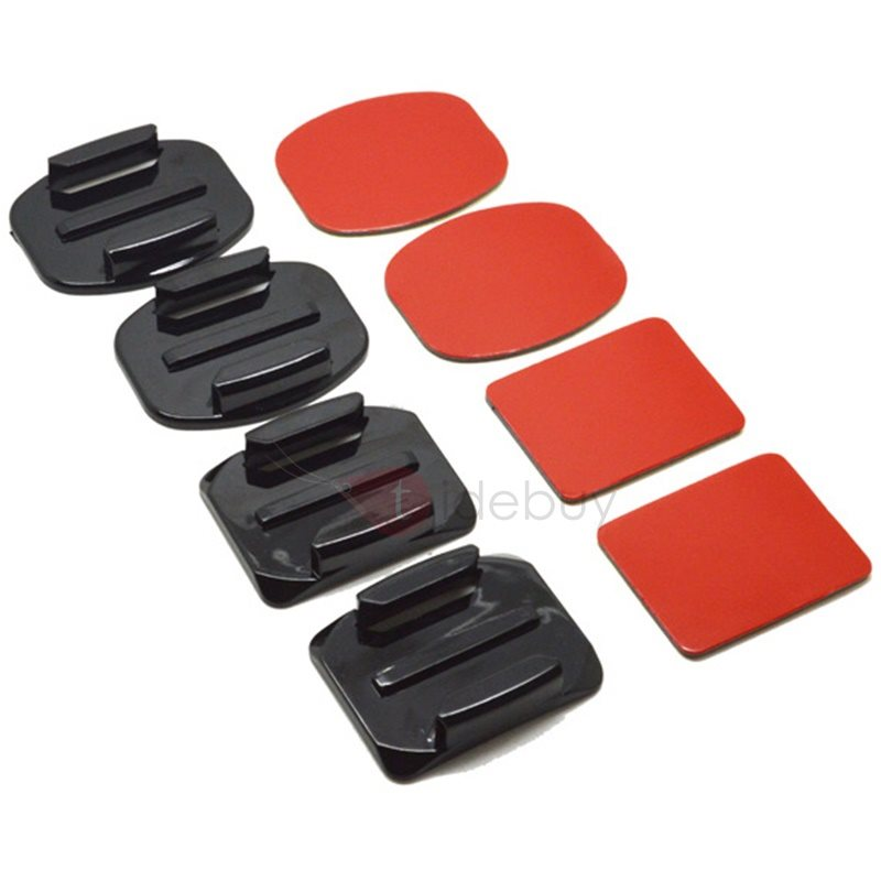 4PCS Flat Curved Mount 3M Adhesive for GoPro Hero