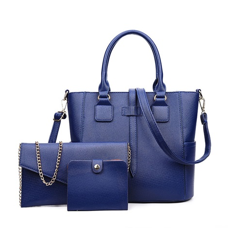 Trendy Litchi Grain Women Bag Sets