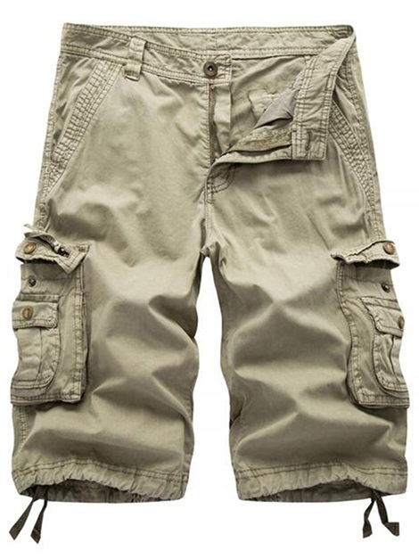 Pockets Knee Length Men's Casual Shorts