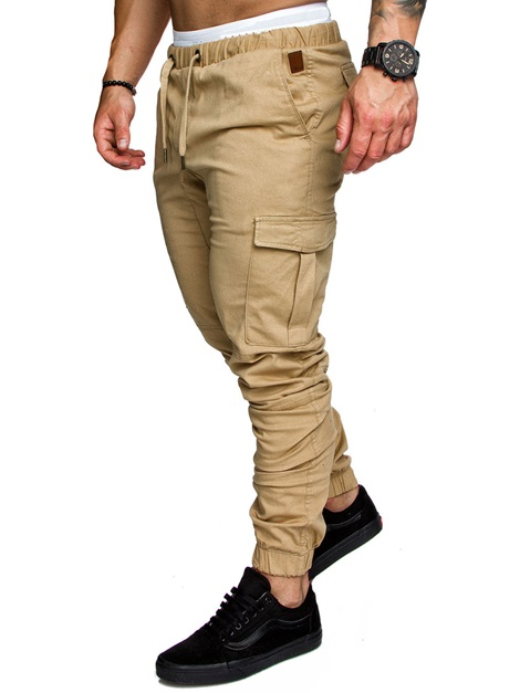 Plain Cotton Men's Casual Pants