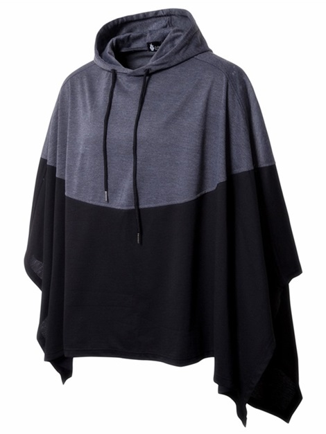 Hooded Patchwork Color Block Casual Men's Pullover Hoodie