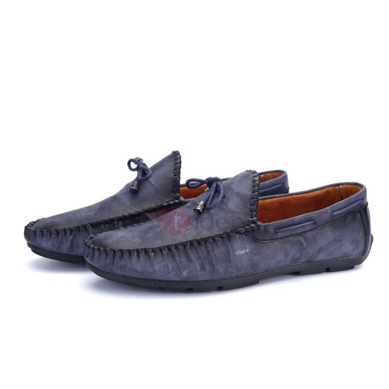 Breathable Ruched Slip-On Men's Loafers