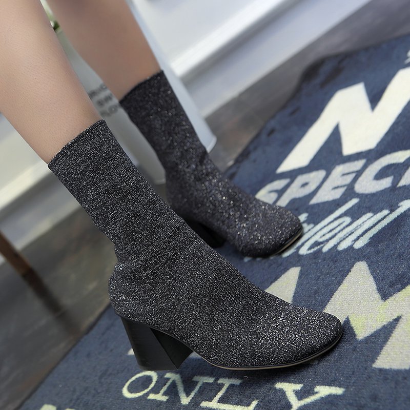 Knitting boots Stretch boots socks shoes